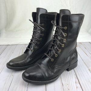 Born Dark Brown Combat Boots Sz 9